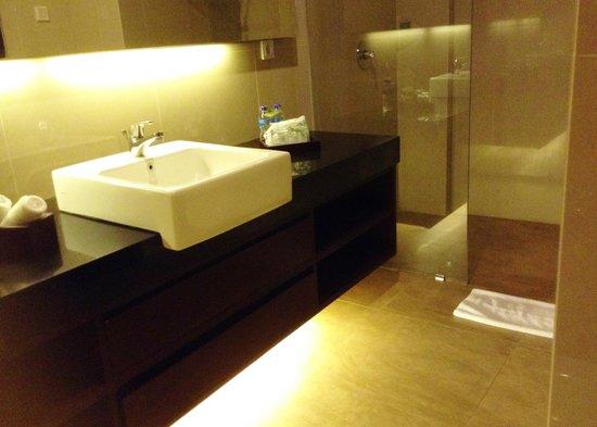 D'Djabu Hotel: Bathroom - walk-in shower