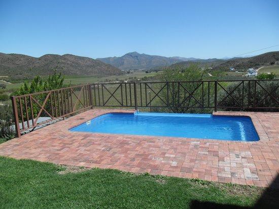 Orange Grove Farm: Our own pool and wonderful view