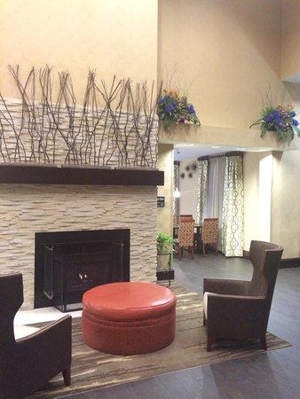 Hampton Inn Haverhill : Fireplace