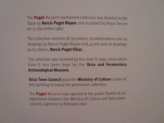 Museo Puget: Notice