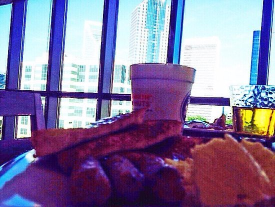 Hyatt Place Charlotte Downtown: Breakfast with a view