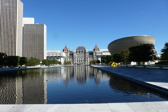 view of capitol - picture of governor nelson a  rockefeller empire state plaza  albany
