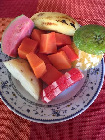 Casa de Mary y Angel: First course of fruit
