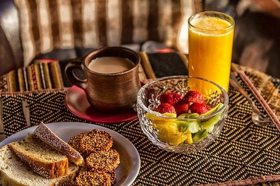 Lodge Andino Terrantai: Desayuno