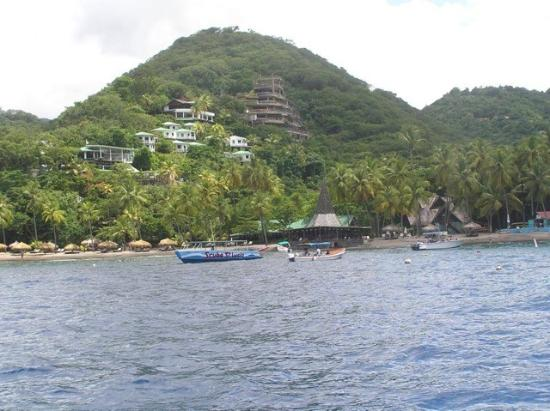 Anse Chastanet: Photo of resort from water