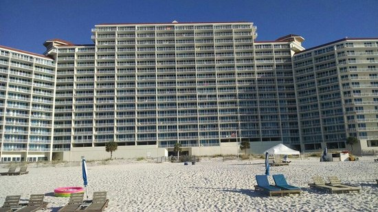 The Lighthouse Condominiums: View of Lighthouse from beach.