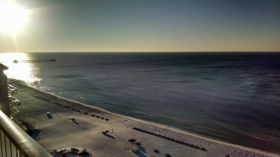The Lighthouse Condominiums: View of Gulf State Park pier from balcony.