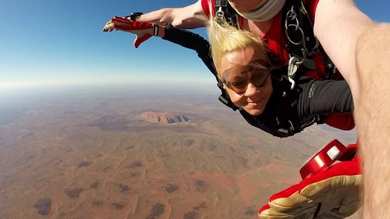 Yulara, Australia: Uluru, Ayers Rock, Australia. Welcome to tandem skydiving!