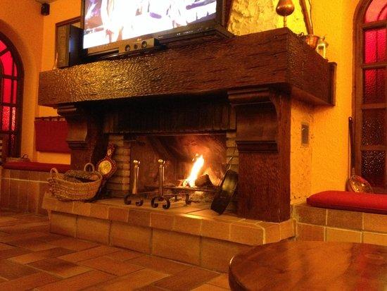 Hotel Ordesa: Chimenea del Salón