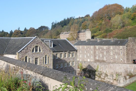 New Lanark World Heritage Village: A view of the town