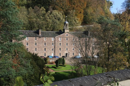 New Lanark World Heritage Village: A view across the town