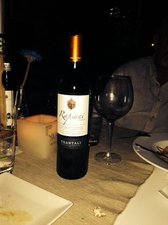 Yamas Restaurant: The recommended Red Wine . Absolutely beautiful and enjoyable.