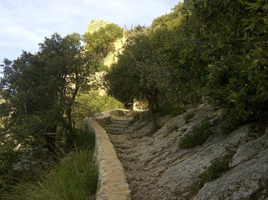 Castell d Alaro : View of the path near the top