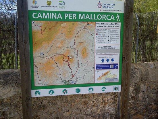 Castell d Alaro : Map of the walk