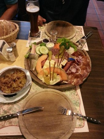 Bergsee: our dinner