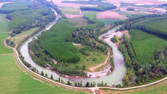 Hospederia de Alesves : Ruta btt por el río Aragón Villafranca Navarra