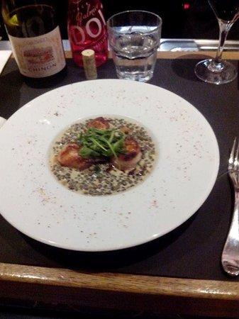 Brasserie Baroche : OSTIONES CON LENTEJAS.