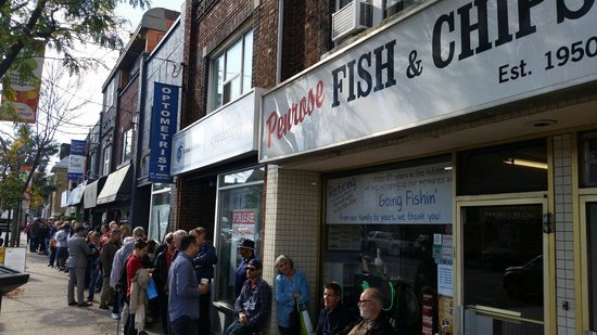 Penrose Fish & Chips: Line up for last orders at Penrose.