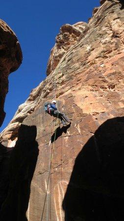 Zion Adventure Company: 150' training rappel