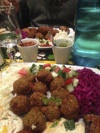 Assiette falafels végétariennes
