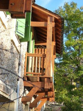 Gite San Feliu : Chambre avec balcon