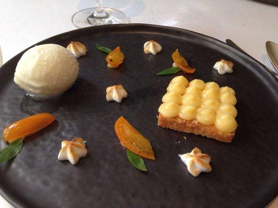 Les Jardins d'Aliénor : Mini tarte au citron et sa boule de glace