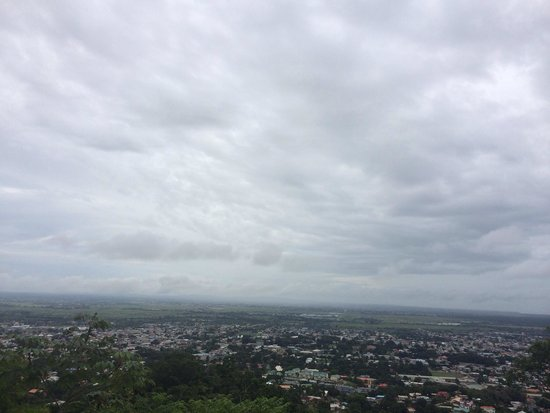 Mount St. Benedict Monastery: Aerial view of port of Spain on the way up to the St. Benedict monastery