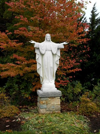 National Shrine Grotto of Lourdes: Entrance to the path of the Grotto of Lourdes, Emmitsburg, MD (LAD 10-22-2014)