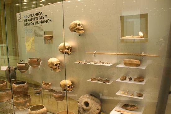 Museo de la Naturaleza y el Hombre : Noen av de få gjenstandene som var der