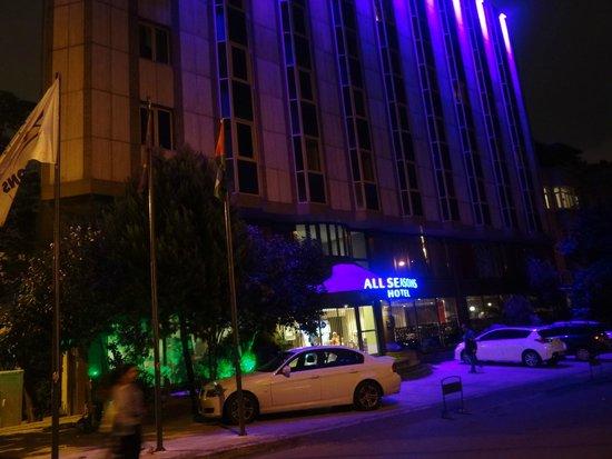All Seasons Hotel_outside at night 2