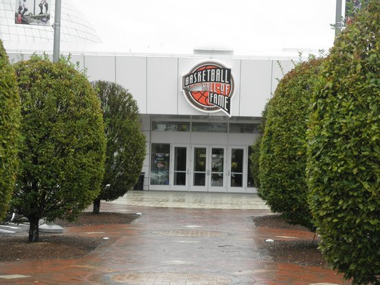 Basketball Hall of Fame: Exterior View from Parking Lot
