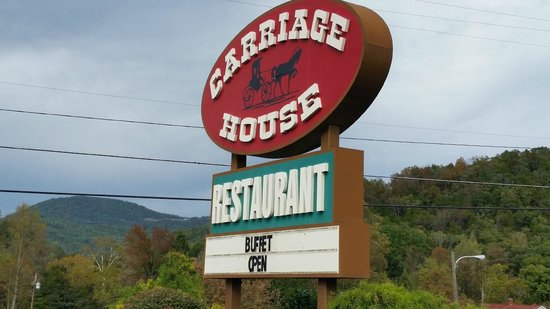 Carriage House Restaurant: outside sign