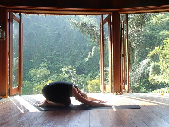 Bagus Jati Health & Wellbeing Retreat : The yoga and meditation room