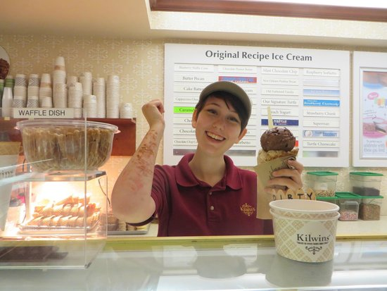 Kilwins: Sweet Sarah, with the Ice Cream arms....friendly with a Great Smile