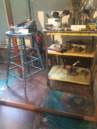 Pollock-Krasner House and Study Center : In the studio