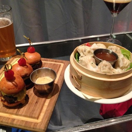 Sliders and lobster dumplings - Picture of David Burke at ...