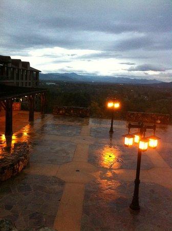 The Omni Grove Park Inn Spa: view from Edison's restaurant