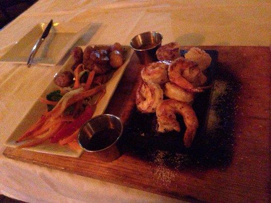 The Stone Restaurant: Shrimp and scallops