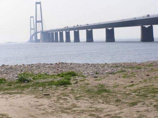 Korsoer, Denmark: Storebæltsbroen set fra Korsør. 1