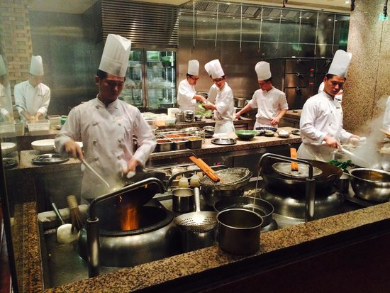 open kitchen. - picture of 1881 chinese restaurant - grand hyatt