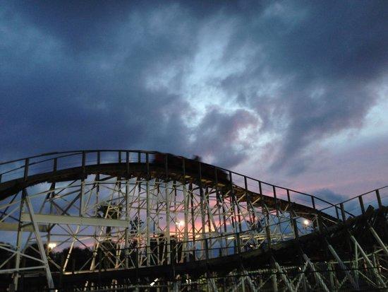 Fun Spot America: White Lightning Roller Coaster