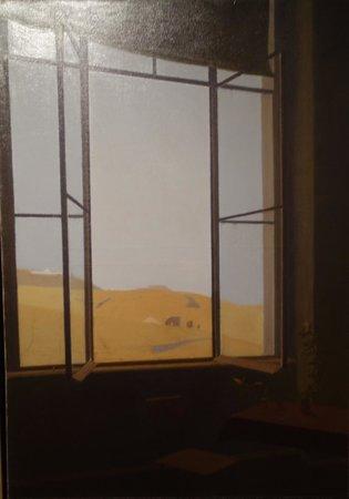 Wien Museum: Franz Lerch: Blick aus dem Atelierfenster zum Kahlenberg
