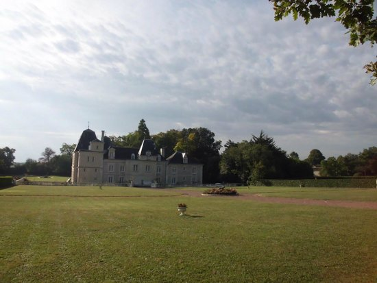 Chateau de Jalnay : het zicht op het kasteel