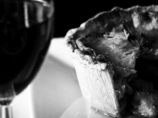 The Farmers Boy Inn: A Glass of wine with one of our Gourmet Pies