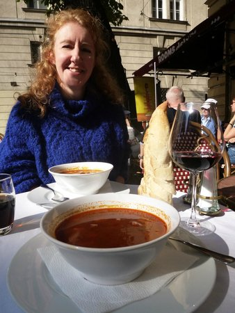 Gerloczy Rooms de Lux: Delicious goulash soup