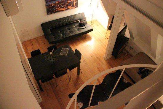 Lisbon Serviced Apartments - Praca do Municipio: Salon vu du duplex