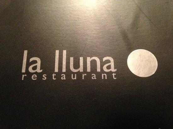 La Lluna Restaurant : tarjeta