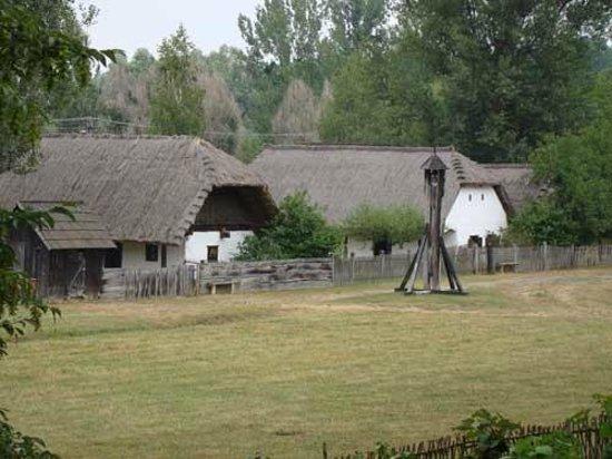 Openluchtmuseum Szenna Zuid-Hongarije