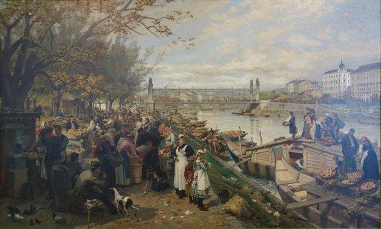 Wien Museum: Alois Friedrich Schönn: Der Obstmarket auf dem Schanzel