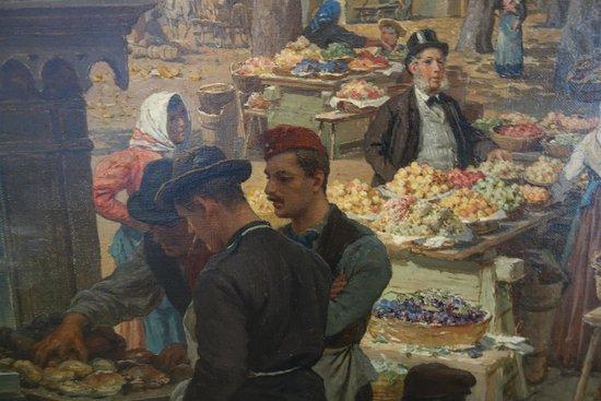Wien Museum: Alois Friedrich Schönn: Der Obstmarket auf dem Schanzel, Detail